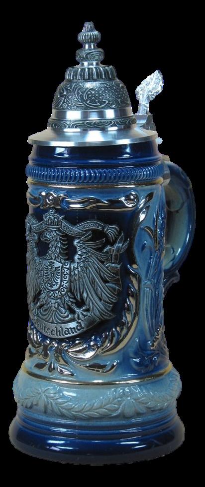 Bierkrug Deutscher Adler Blau