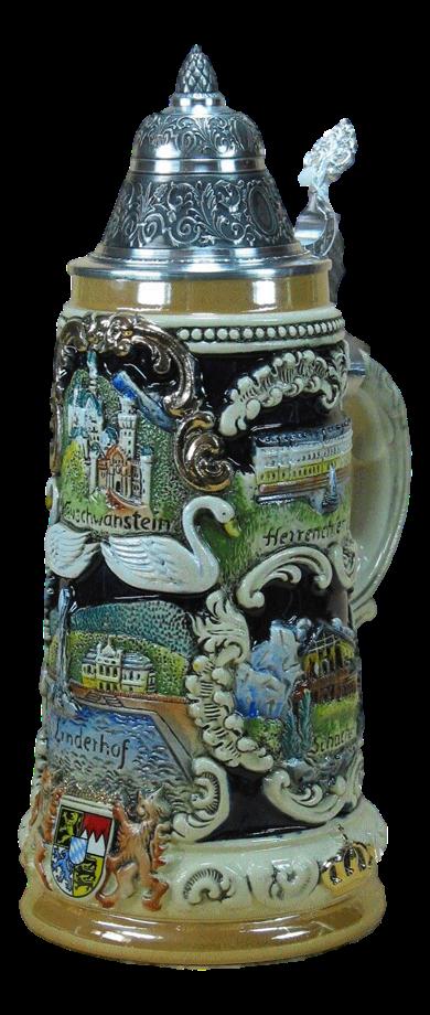 Bierkrug Bayerische Schlösser