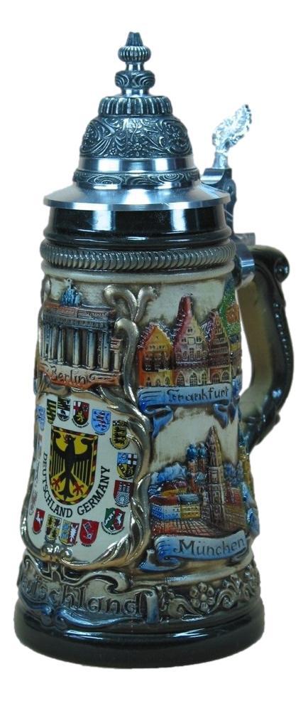 Bierkrug Deutsches Panorama mit Länderwappen