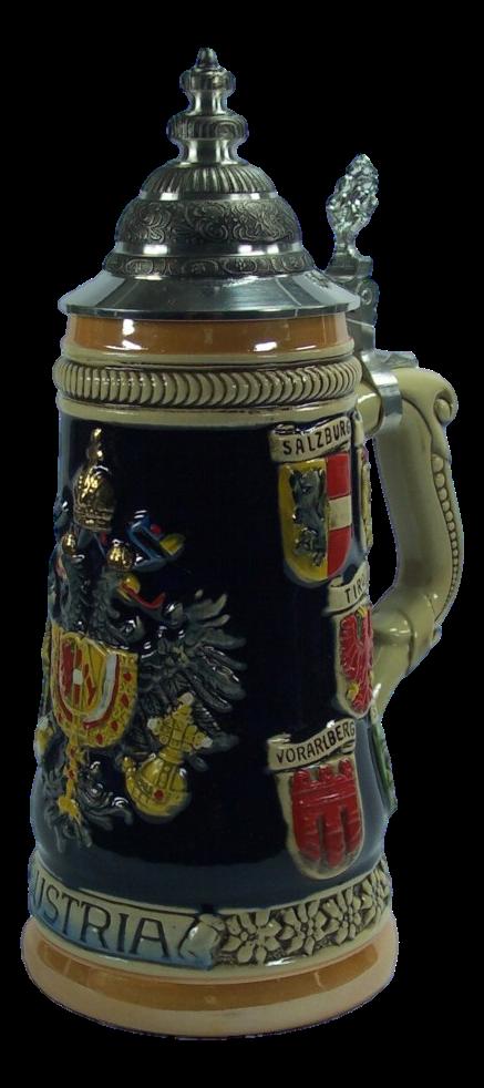 Bierkrug Österreichische Wappen