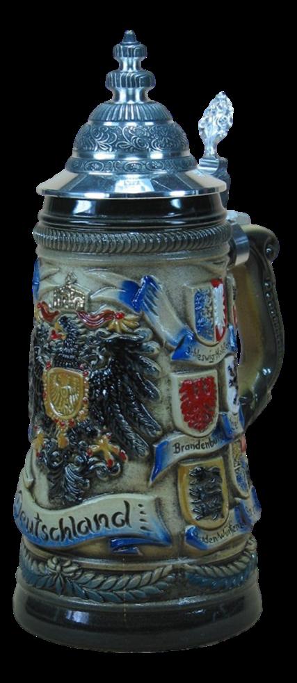 Bierkrug Deutscher Adler mit Wappen