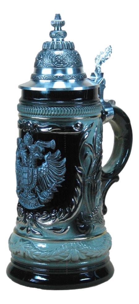 Bierkrug Bundesadler Österreich Schwarz