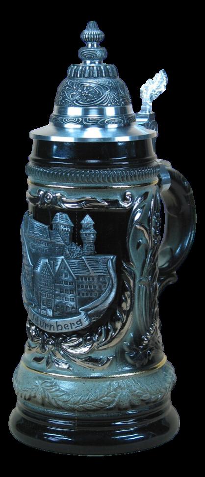 Bierkrug Nürnberg Schwarz