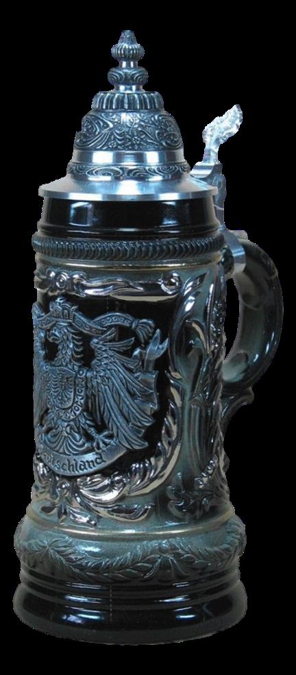 Bierkrug Deutscher Adler Schwarz