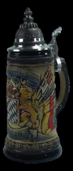 Bierkrug Bayerische Flagge