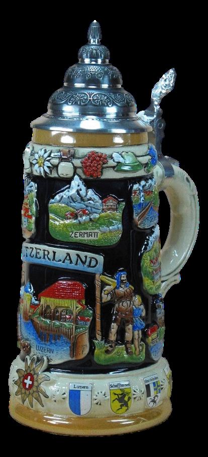 Bierkrug Schweiz Wilhelm Tell